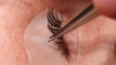 Woman Eye with Long Eyelashes Stock Footage