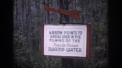 1958: sign out in the forest. DAYTON OHIO Stock Footage