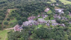 Aerial view of Clent Village. Stock Footage