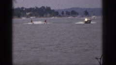 1961: a day for water skiing. MICHIGAN Stock Footage