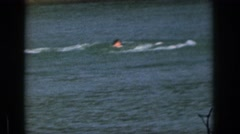 1961: a female swimmer takes part in watersports MICHIGAN Stock Footage