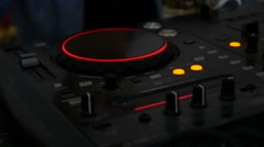 Remote mixer Audio DJ music glows in the dark video Stock Footage