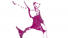 Purple splash of liquid in slow motion. juice. Stock Footage