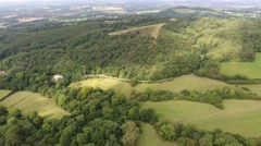 Aerial view of the Clent Hills. Stock Footage