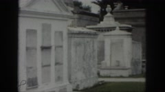 1958: family mausoleum in french cemetery NEW ORLEANS LOUISIANA Stock Footage