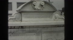 1958: tombs at the cemetery with ironwork fences. NEW ORLEANS LOUISIANA Stock Footage