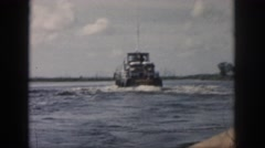 1958: ship dock travel huge water waves observing NEW ORLEANS LOUISIANA Stock Footage