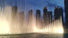 Night fountain show Stock Footage