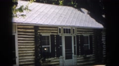 1958: a beautiful bungalow with rice greenery in the premises VIRGINIA Stock Footage