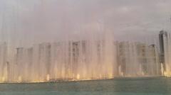 Dubai fountain show Stock Footage
