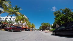 Stock video Ocean Drive sped up Stock Footage