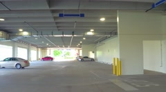 Building parking lot Stock Footage