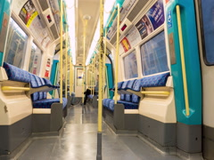 London underground carriage Stock Footage