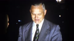 1958: men in suits having conversation VIRGINIA Stock Footage
