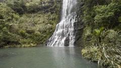 Beautiful waterfalls in Karekare near Auckland, New Zealand. Stock Footage