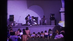 1973: music is the best source for true unconditional happiness in life MEDFORD Stock Footage
