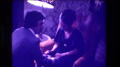 1973: this so happy about what he doing. MEDFORD NEW JERSEY Stock Footage