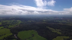 Aerial view of Worcestershire. Stock Footage
