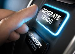 Generating and Converting Sales Leads Stock Photos