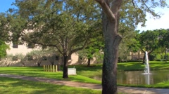 Nature setting at a college campus Stock Footage
