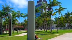 Arts Park Miami Beach Stock Footage