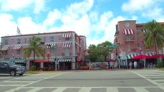 Espanola Way Miami Beach  Stock Footage