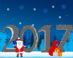 Winter holiday new year Stock Illustration