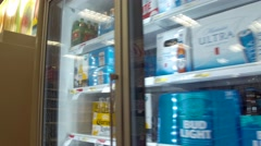 Frozen food section at the store Stock Footage