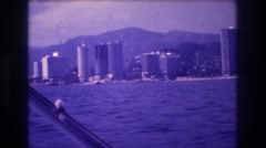 1982: floating object seen by beach ACAPULCO MEXICO Stock Footage