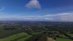 Aerial view of Halesowen from the Clent Hills. Stock Footage