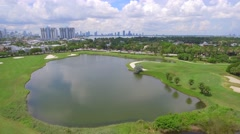 Aerial video Miami Beach golf club Stock Footage