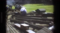 1975: little trains BAXTER MAINE Stock Footage