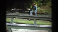 1975: no matter how old you get the kid in you is still very much alive BAXTER Stock Footage