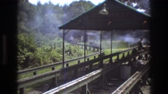 1975: train is coming during the summer BAXTER MAINE Stock Footage