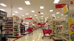 Shopping at Target Stock Footage
