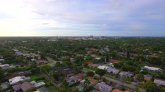 Aerial tour flight Hollywood FL Stock Footage