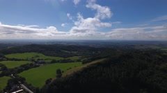 Aerial view of the Worcestershire countryside. Stock Footage