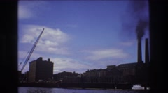 1975: industrial park along the shore line. BOSTON Stock Footage