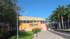FIU School of Business 4k video Stock Footage