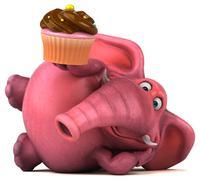 Pink elephant - 3D Illustration Stock Illustration
