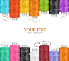 Thread Spool Banner. Vector Stock Illustration