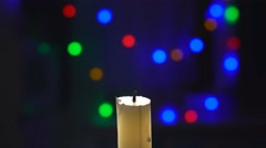 Male Hand Close-Up Lights A Candle. 4k Stock Footage