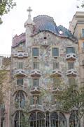 Barcelona, Spain - 25 September 2016: Casa Batllo by Anthoni Gaudi facade. Stock Photos