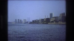 1976: high buildings on coastal area motion fast huge NEW YORK CITY Stock Footage