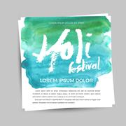 Happy Holi celebration. Design for Indian Festival of Colours Stock Illustration