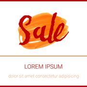 Sale Hand lettering marker design template. Handmade calligraphy. Stock Illustration