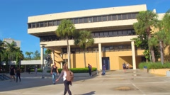 FIU South Campus stock motion footage Stock Footage