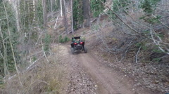 Deer mountain trail recreation off road ride POV HD Stock Footage