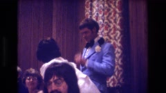 1974: a lovely wedding reception. BOSTON Stock Footage