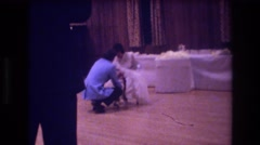 1974: wedding reception BOSTON Stock Footage